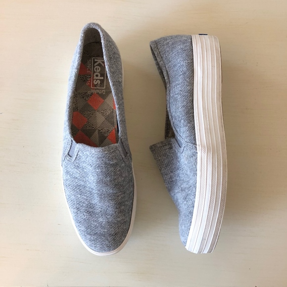 Keds Shoes - Keds Triple Decker Jersey Gray Slip On Size 8.5